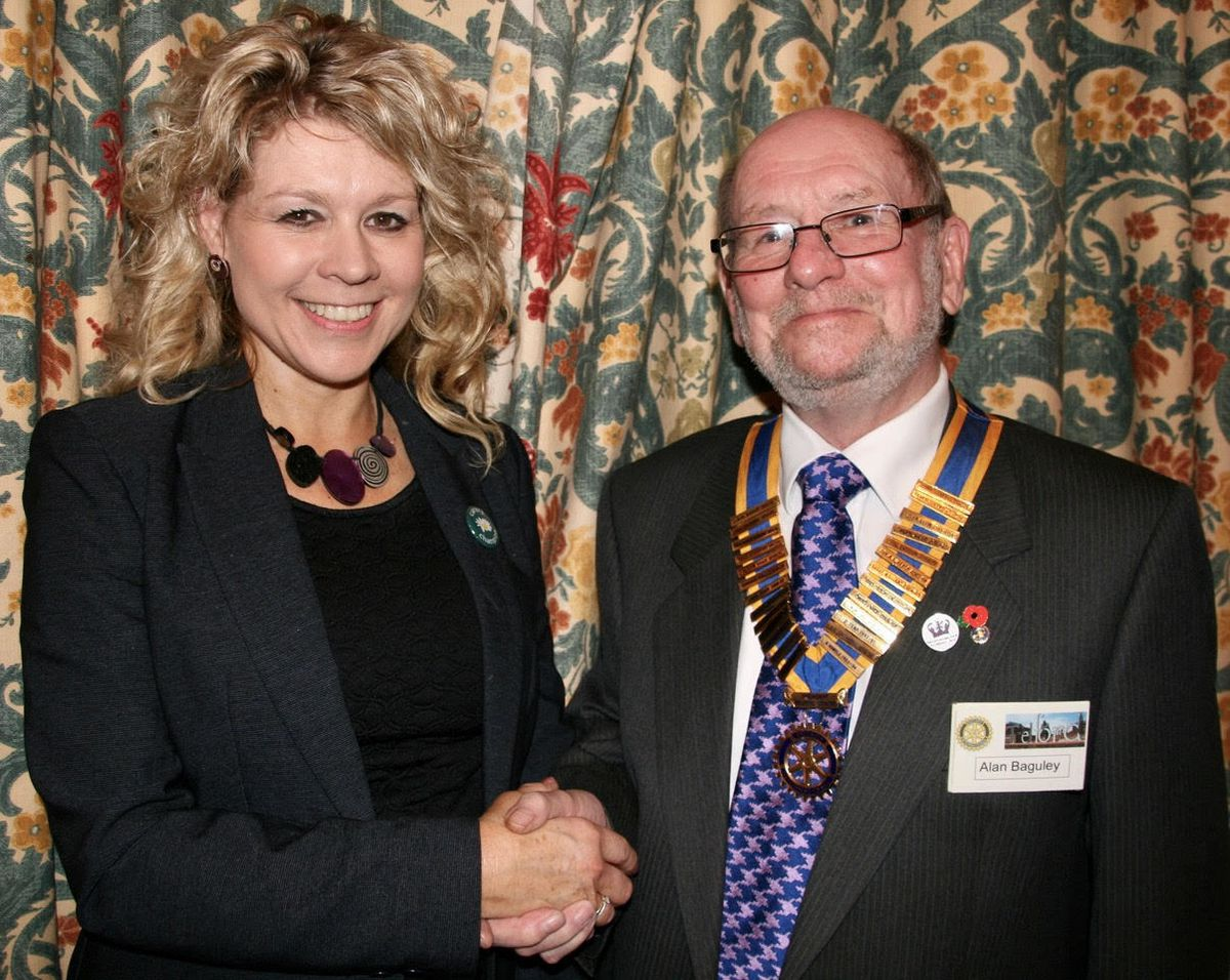 Laura Thorogood with Alan Baguley President of Telford Centre Rotary Club