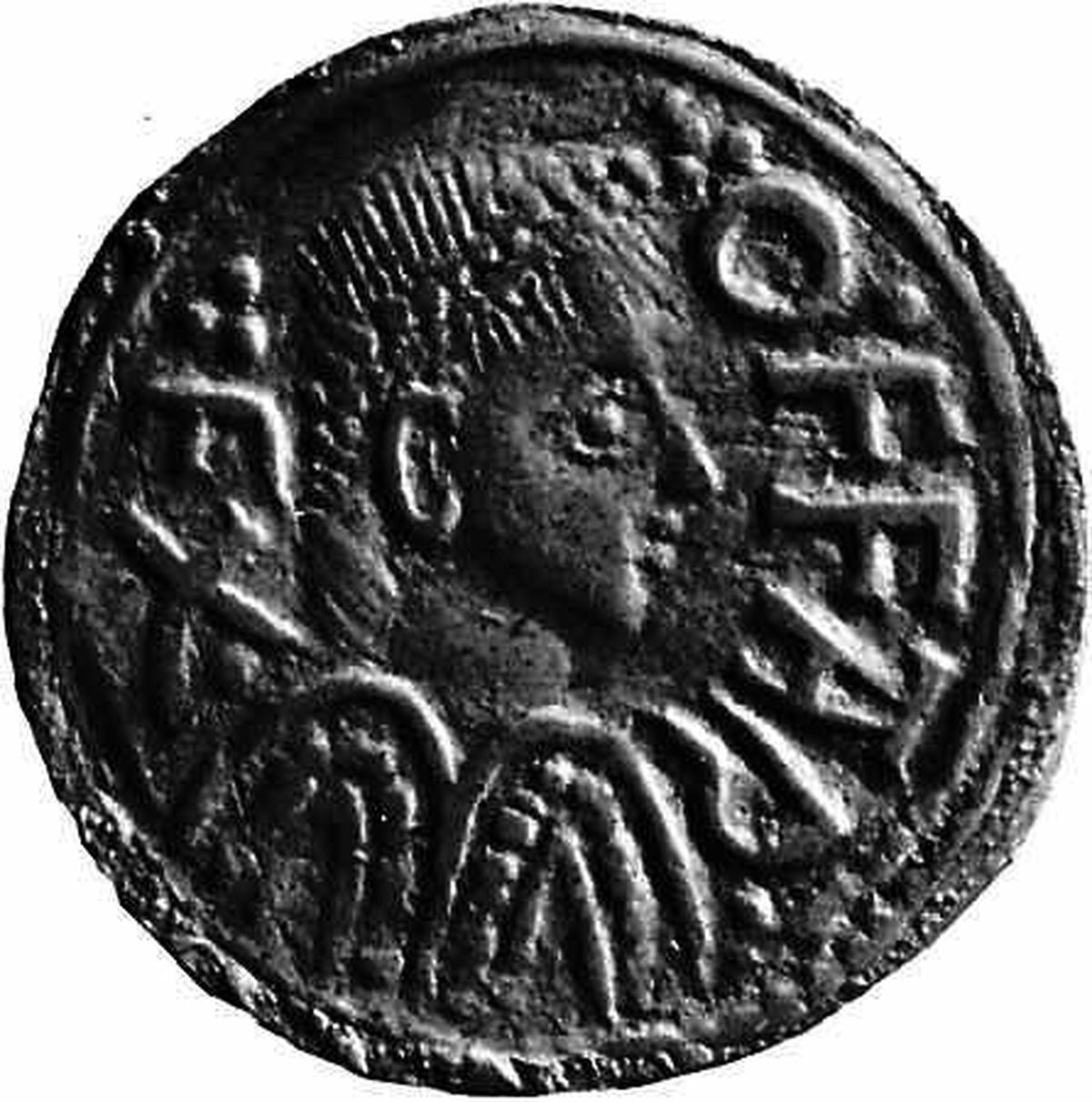 A coin with the mark of King Offa