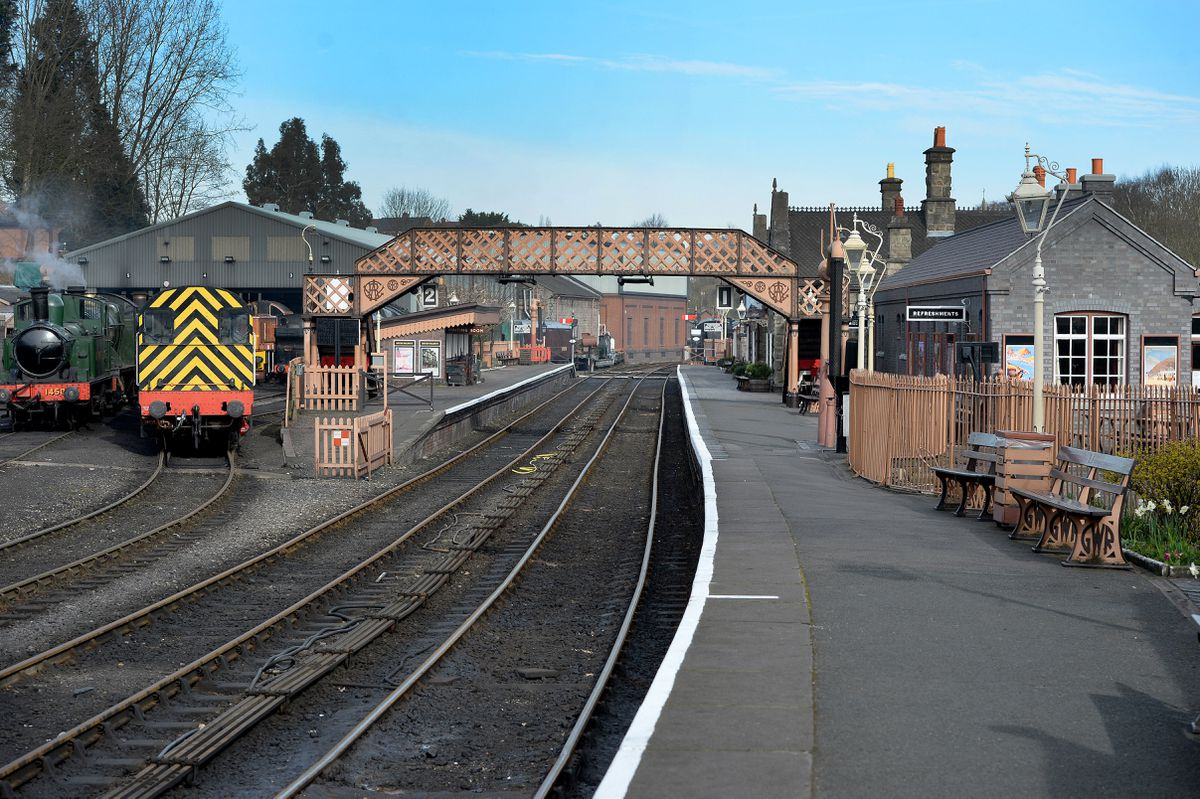 Severn Valley Railway, Bridgnorth, is like a ghost town, as visitors stay away due to the virus