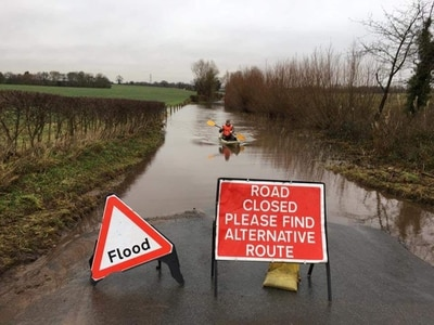 Flood-hit road causing havoc for villagers near Bridgnorth