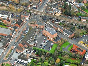 Aerial view of the centre of Shifnal