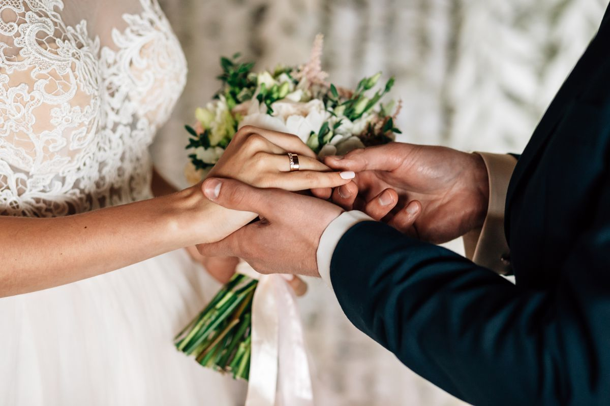 Wedding rules will allow more people to attend receptions in England from Monday, but not Wales