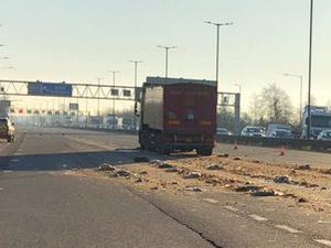 The spillage on the M6. Photo: Highways England