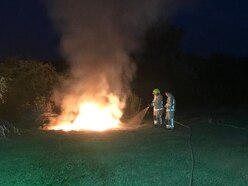 Craven Arms fire alert over controlled burn
