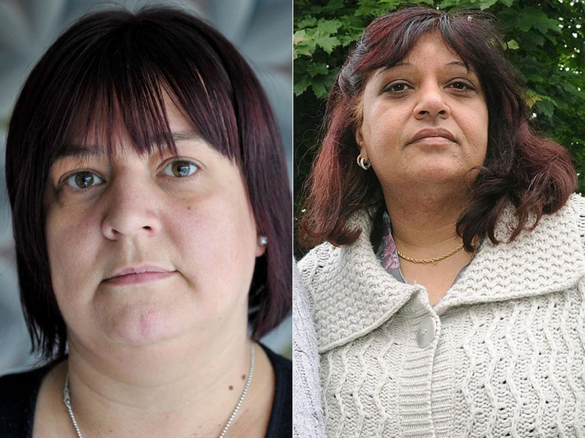 Tracy Felstead, left, from Telford, and Rubbina Shaheen, right, from Worthen, near Shrewsbury