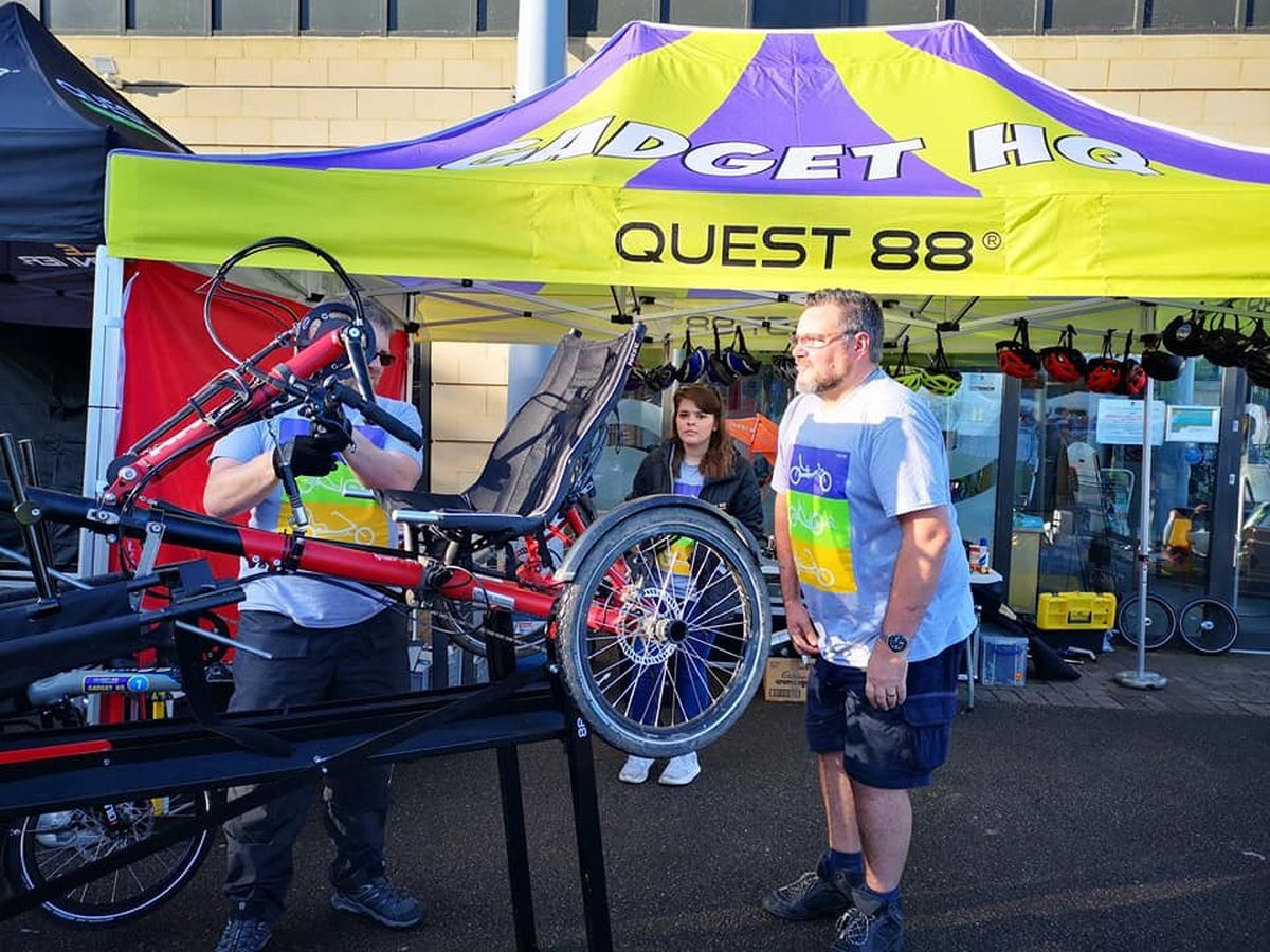 Operations manager Andrew Shilton, right, pictured with one of Quest's products