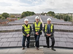Historic milestone as Shrewsbury's Flaxmill has new roof - with video