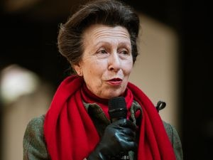 The Princess Royal during her visit to Shropshire