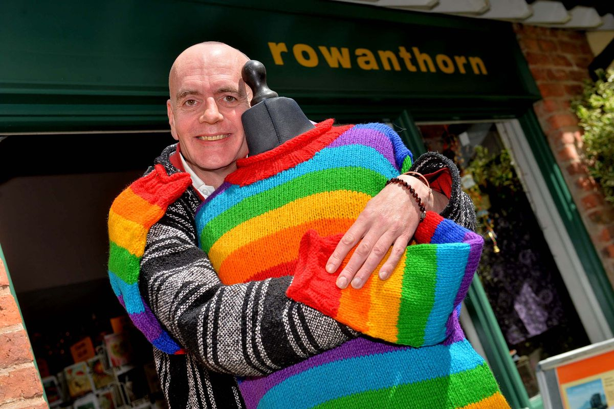 Trader Mike Coppock, from Oswestry, is looking forward to hugs