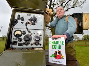 Andrew Bullas with his debut novel Charlie Echo