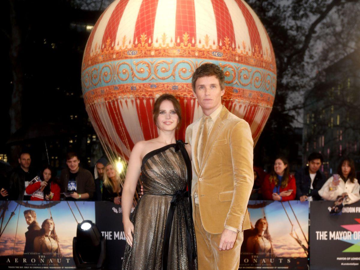 Felicity Jones and Eddie Redmayne attending the UK Premiere of The Aeronauts