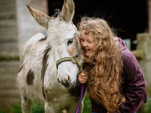 Honey Ball from Bridgnorth will be walking a thousand steps a day with Mr Bump the blind donkey