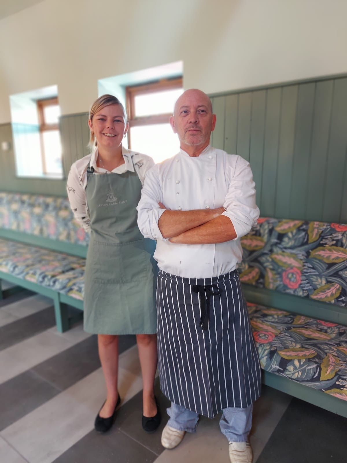Cafe manager Carmel Bytheway and lead chef David Ames