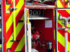 Motorist escapes injury as vehicle overturns in Shropshire village