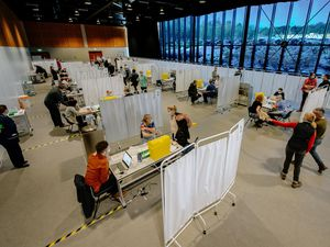 The Telford International Centre has been converted into a mass coronavirus vaccination site