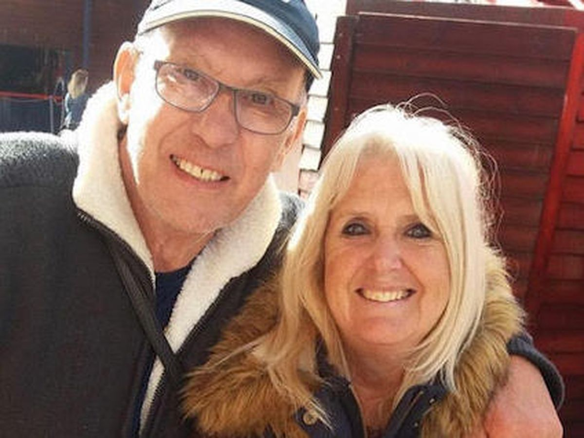 Kenny Barber with wife
