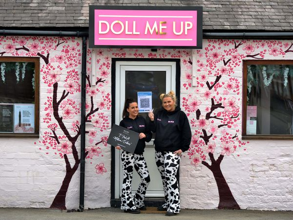 Jade Hirst and Elisha Bytheway have opened Doll Me Up, a new salon in Bishop's Castle