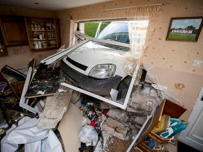 Man in court after van crashed through wall of pensioner's home