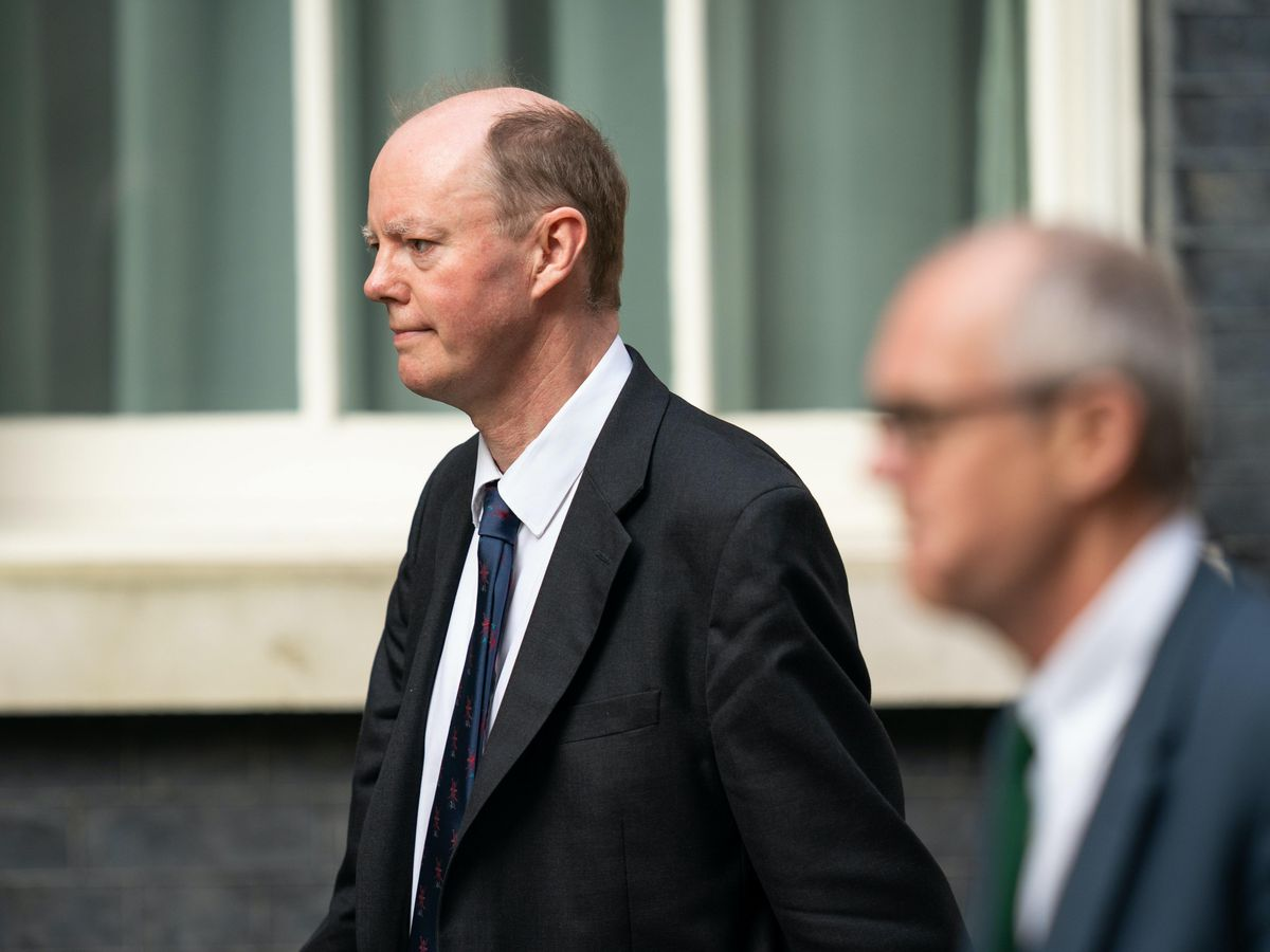 Chief medical officer Professor Chris Whitty (left) and chief scientific adviser Sir Patrick Vallance (Aaron Chown/PA)