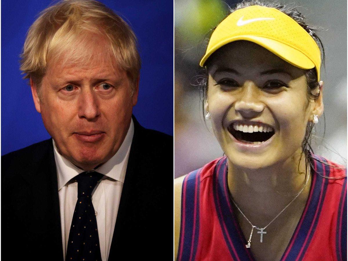 Boris Johnson has spoken to Emma Raducanu
