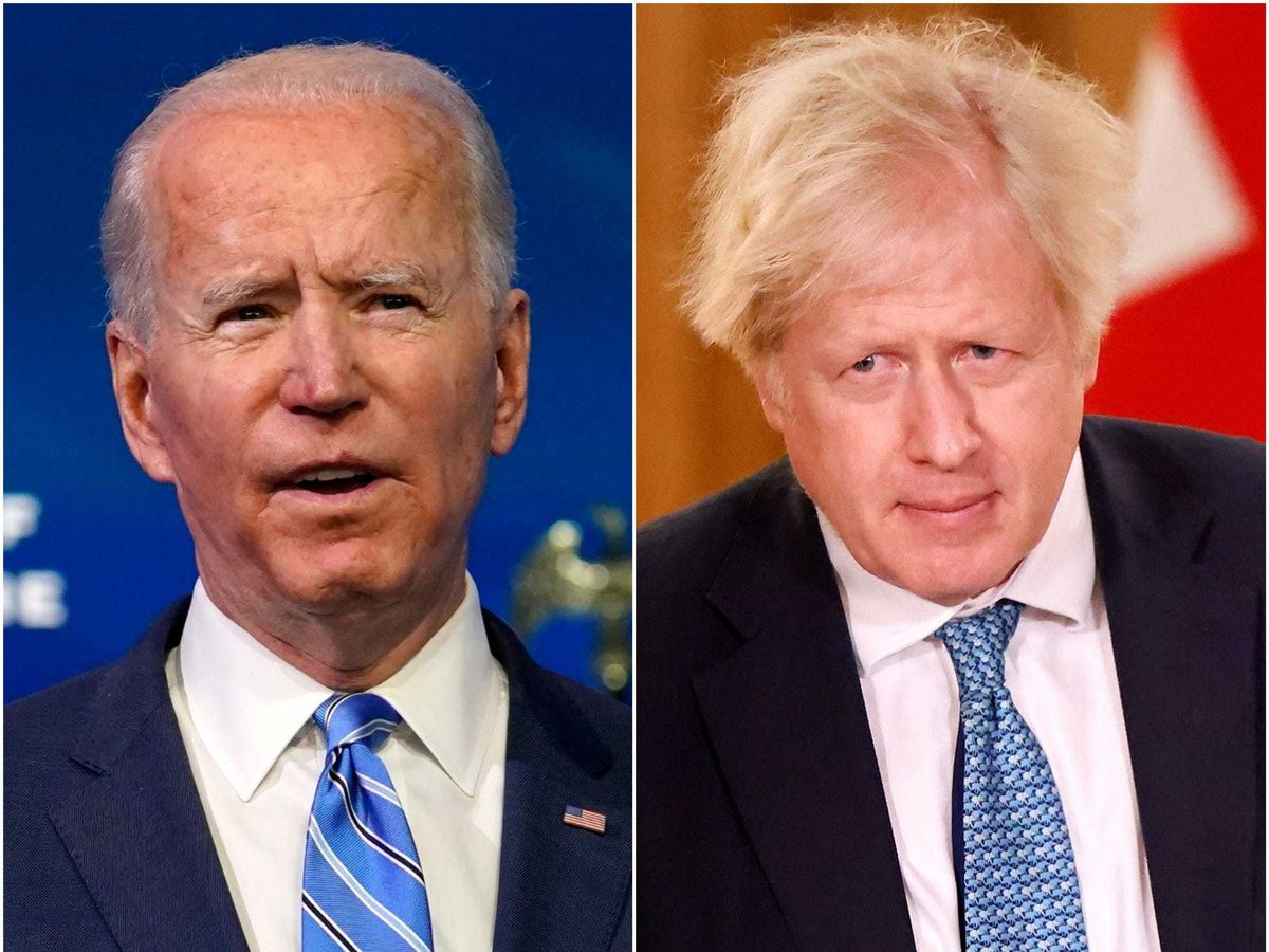 Joe Biden and Boris Johnson