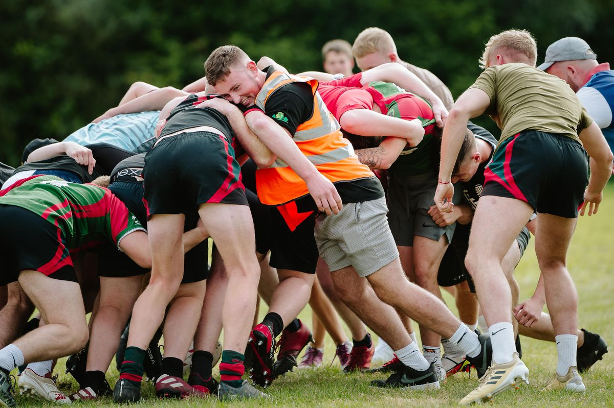 A rugby match was played in Dylan's honour