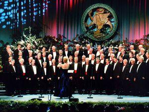 The Fron choir at the Llangollen Eisteddfod