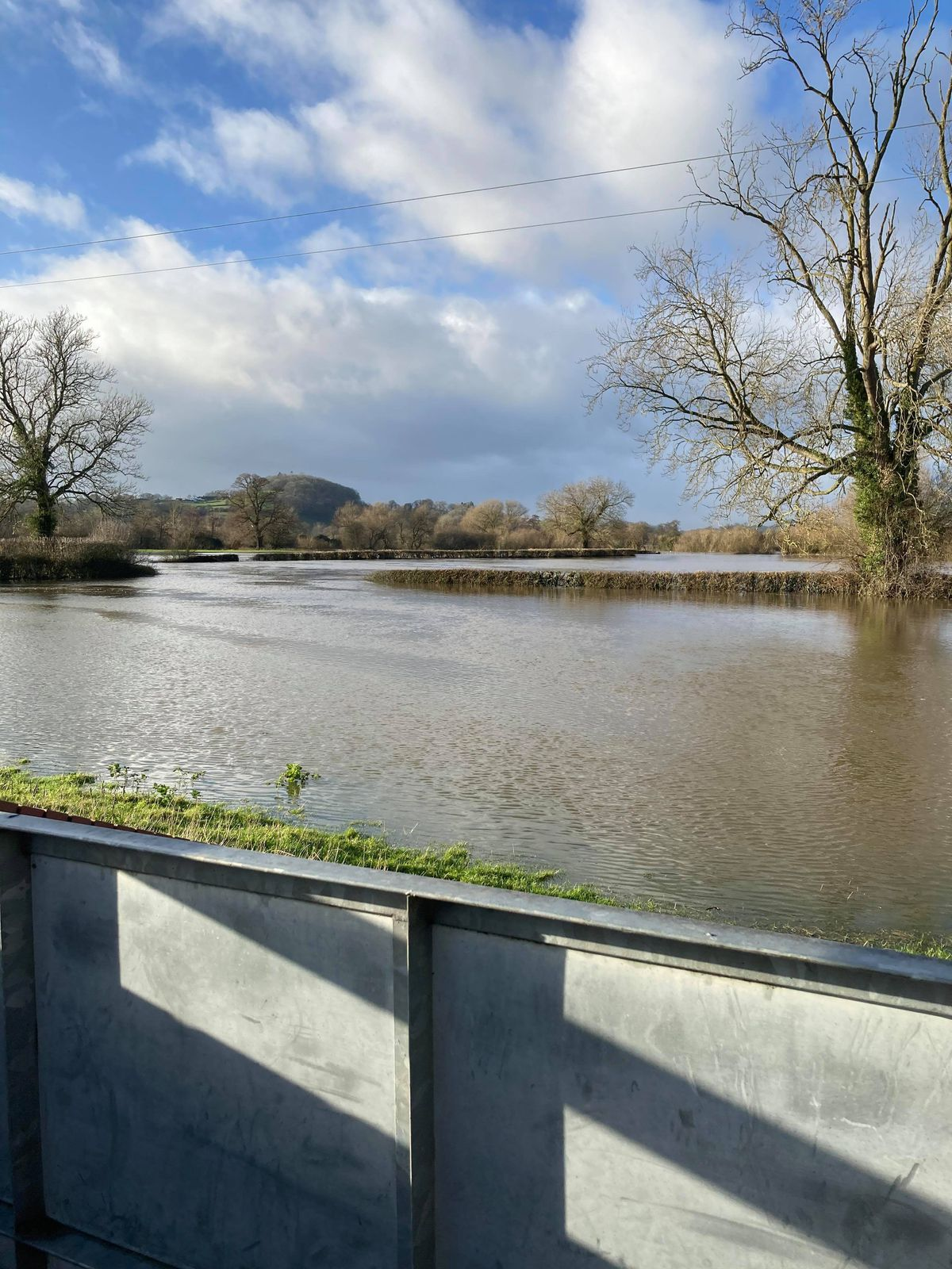 A homemade floodgate keeps the Vyrnwy out of Julie and Bill Lee's home near Llanymynech