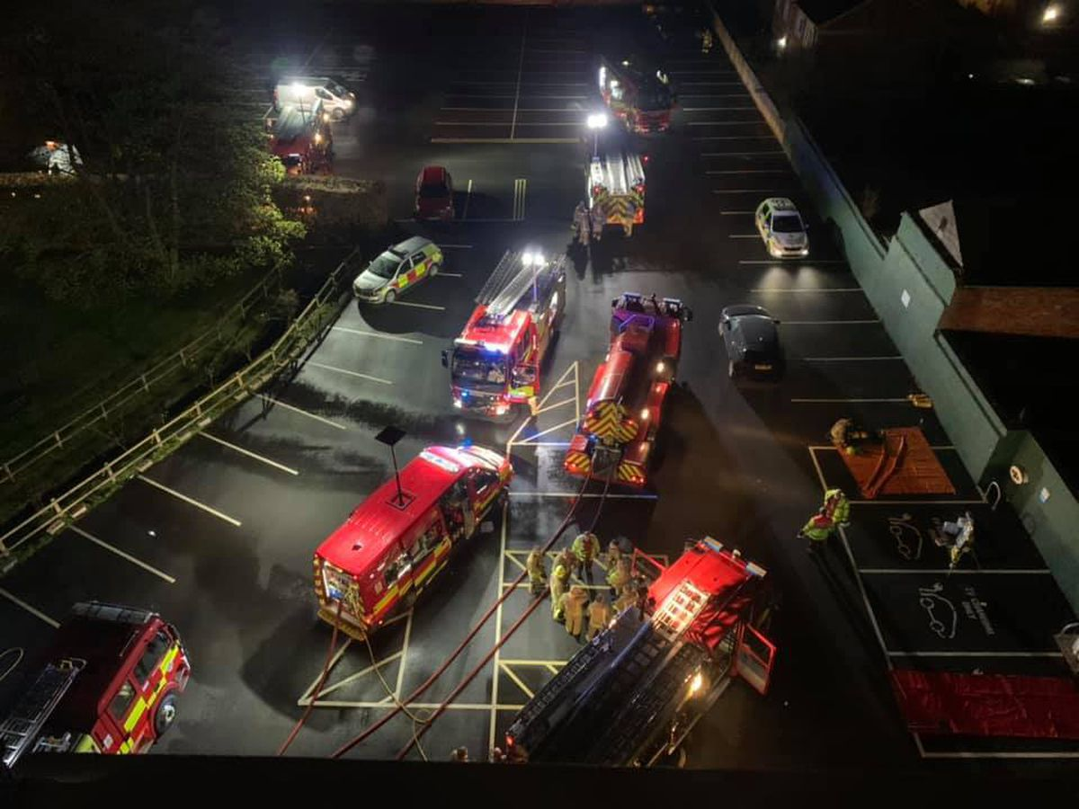 Fire crews at the Metropole Hotel and Spa in Llandrindod Wells