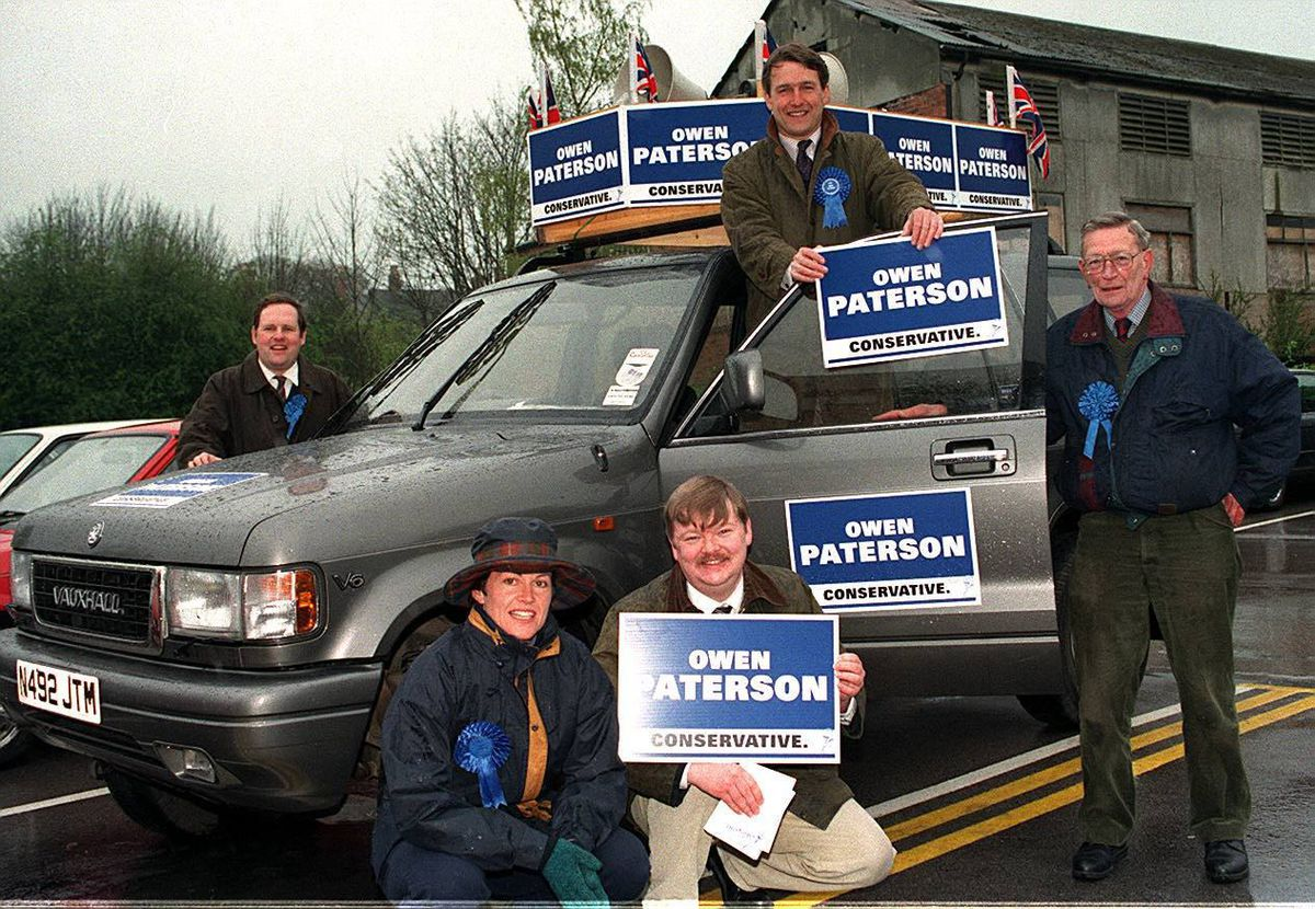 On the campaign trail in Whitchurch shortly before Owen Paterson was elected in 1997