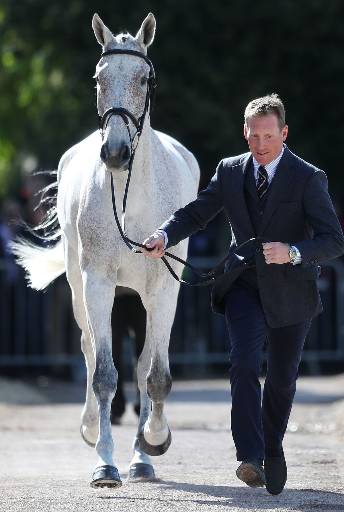 Oliver Townend with Ballaghmor Class in the trot up during day one of the Mitsubishi Motors Badminton Horse Trials