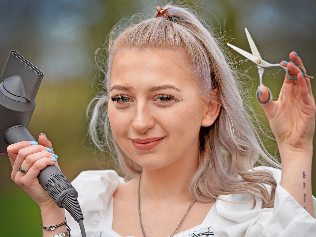 Ruby Ankers, 21, from Whixall, is a self employed hair stylist. She has applied and been selected out of thousands of applicants as a finalist for the national Hair and Beauty Awards 2021 for Hair Stylist of the Year