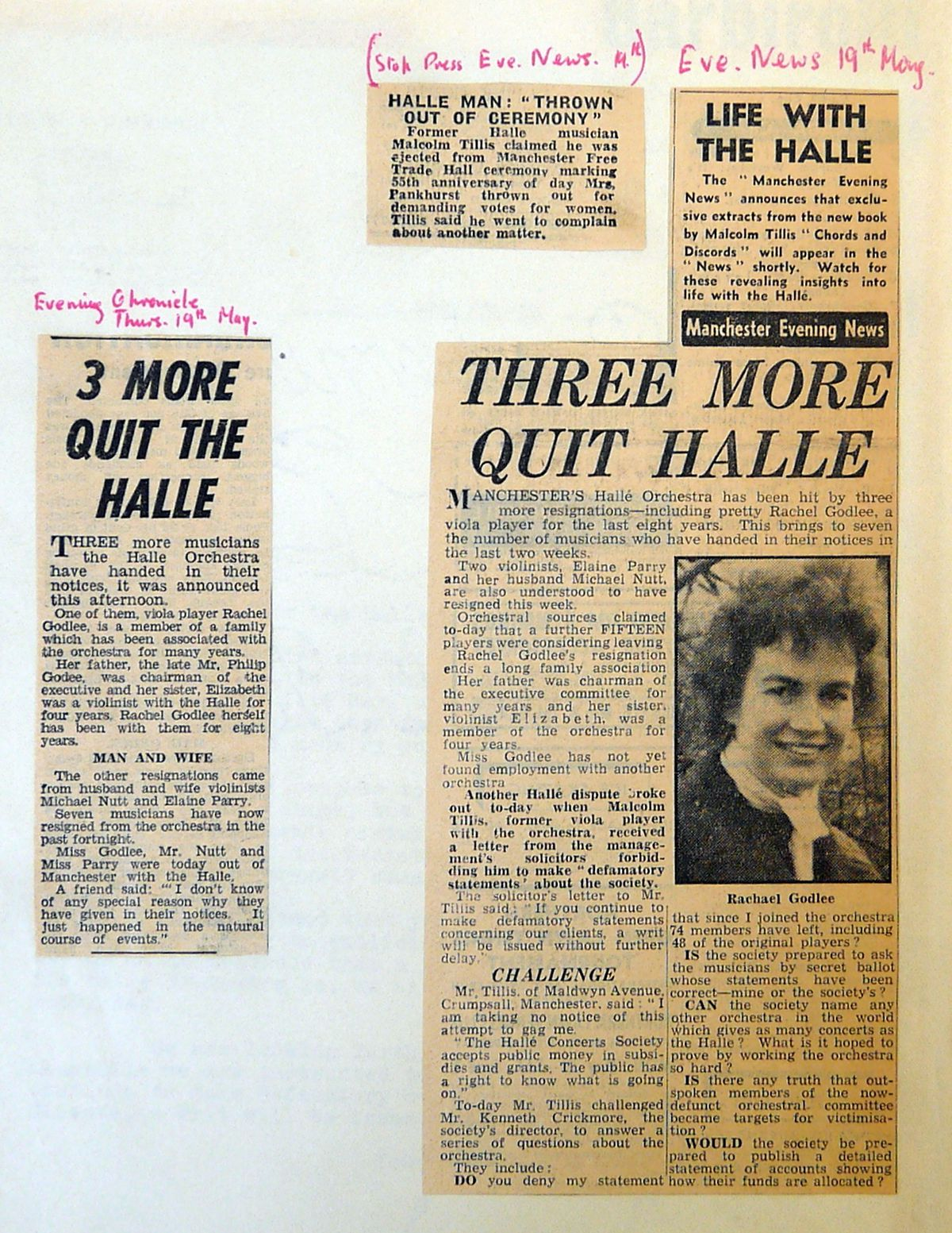 Press coverage which followed the fall-out from Malcolm Tillis's controversial book Chords and Discords