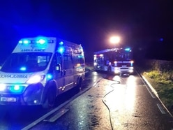 Two taken to hospital after A49 crash in Shropshire