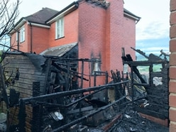 Explosions heard as fire destroys shed