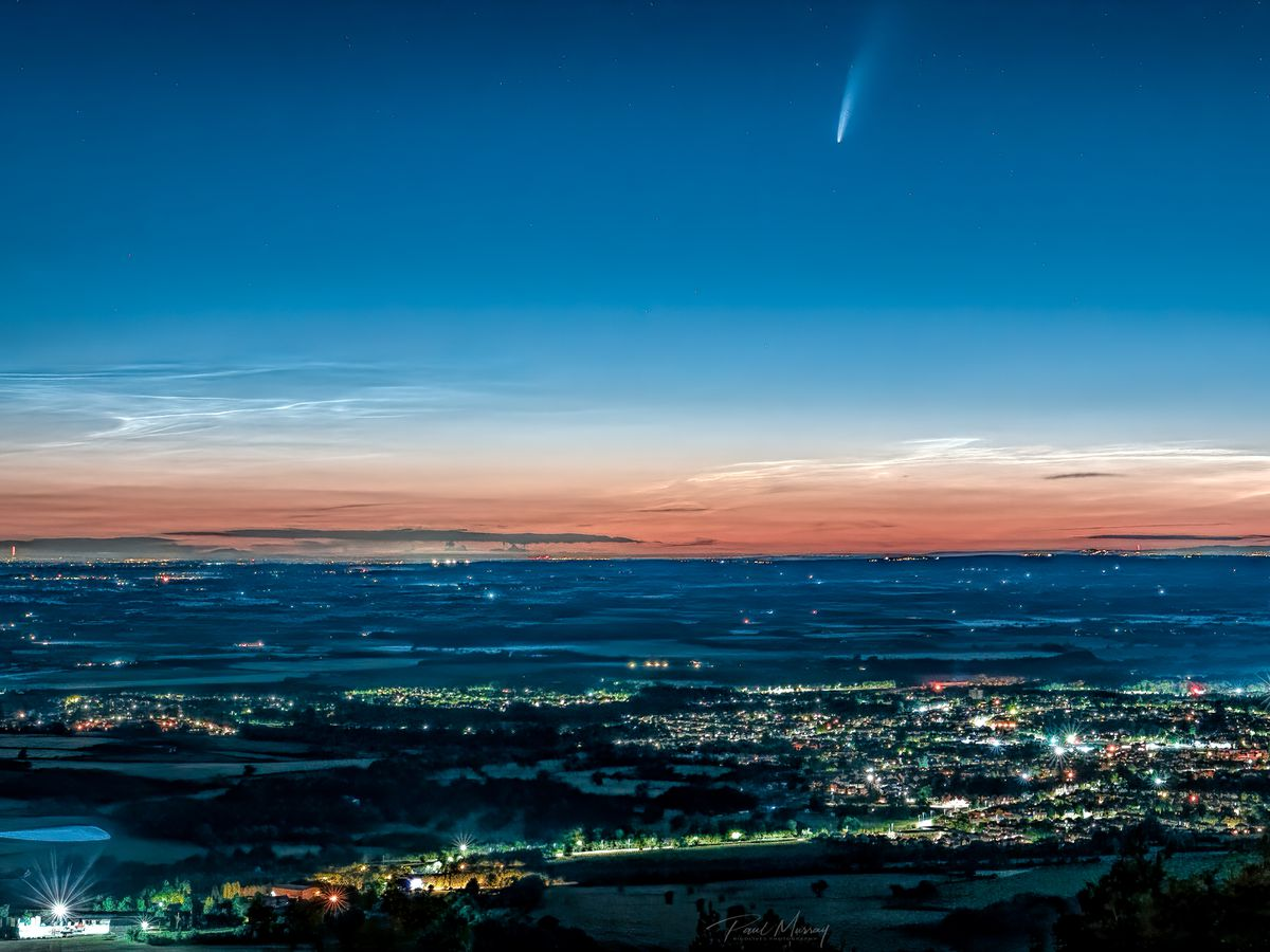 Comet Neowise was captured soaring across the sky over Wellington by Paul Murray, from Hadley, Telford