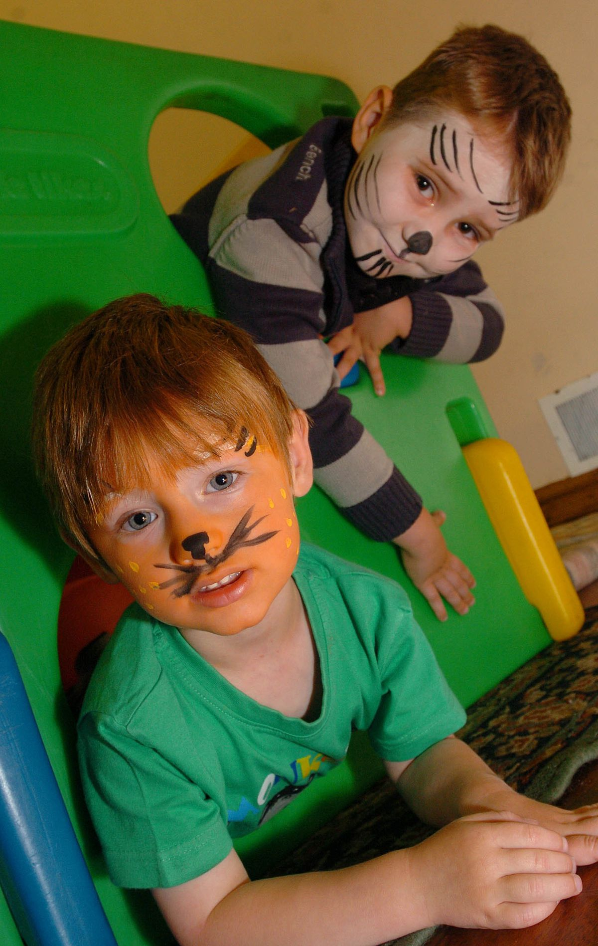 Ryan Peevor, then aged three and Josh Glapa, aged four, at Ketley Methodist Parent and Toddler Group in 2009.