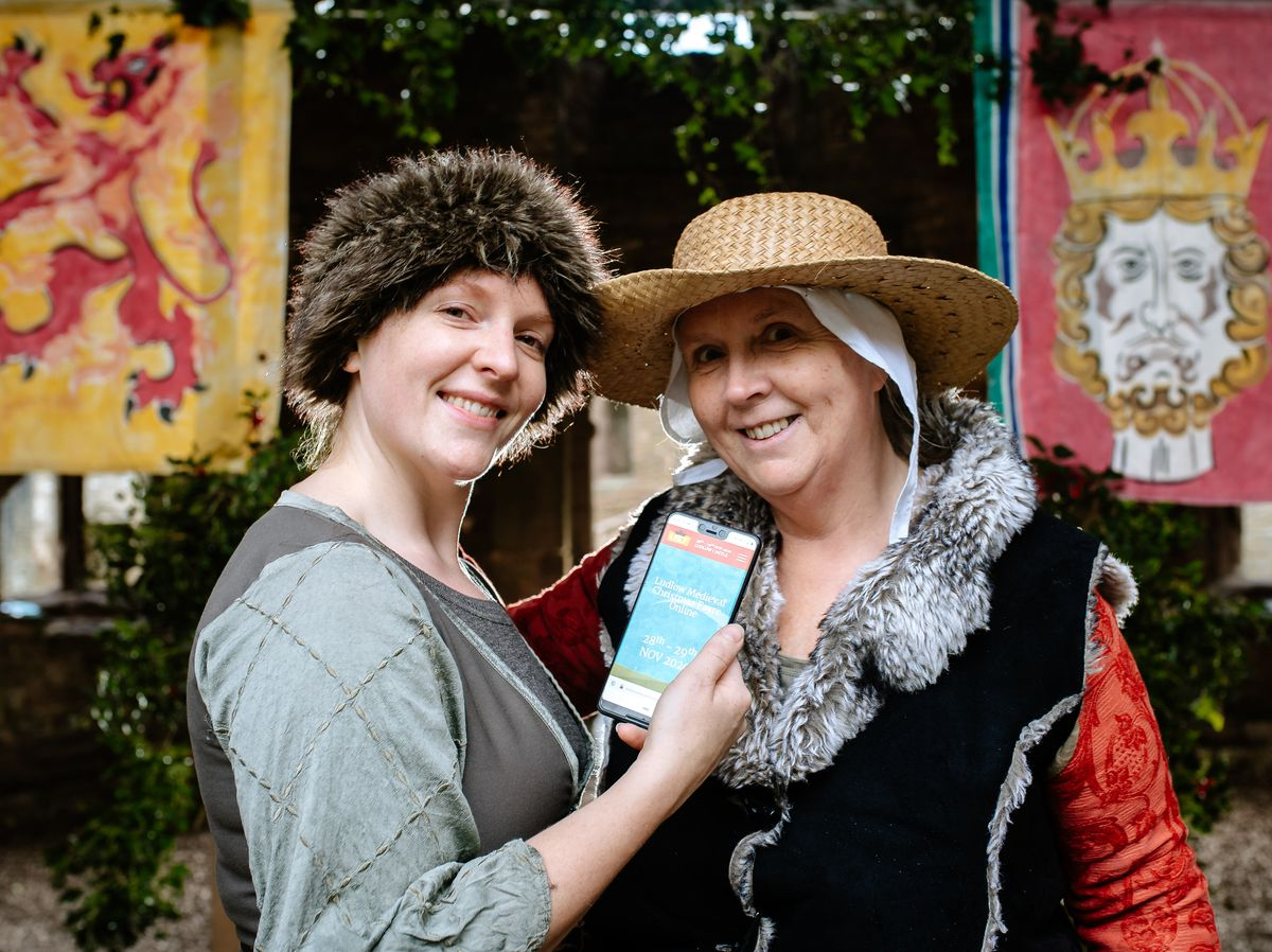 Ludlow Medieval Christmas Fayre has been held at Ludlow Castle for the last 21 years but this year it will be going online. In Picture L>R: Organisers Abi Dakin and Prue Dakin