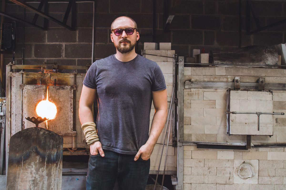 Elliot Walker is an expert glassblower who grew up in Codsall