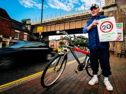 Shifnal campaigner Peter is on his bike for '20's Plenty' speed campaign