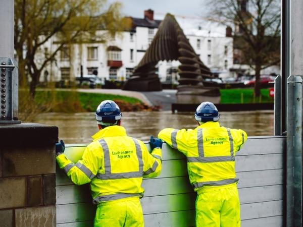 Flood barriers installed in Shrewsbury as more rain forecast