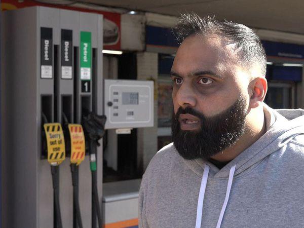 Yasser Ahmed at West Drayton petrol station