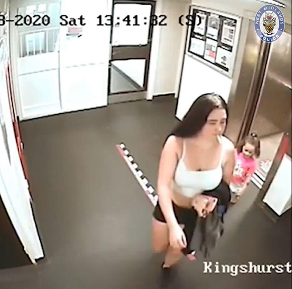Kaylee-Jayde Priest, shown in a CCTV still just hours before her death