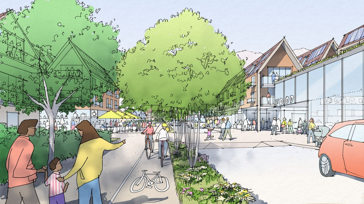 An artist's impression of how the Tasley Gateway development could look