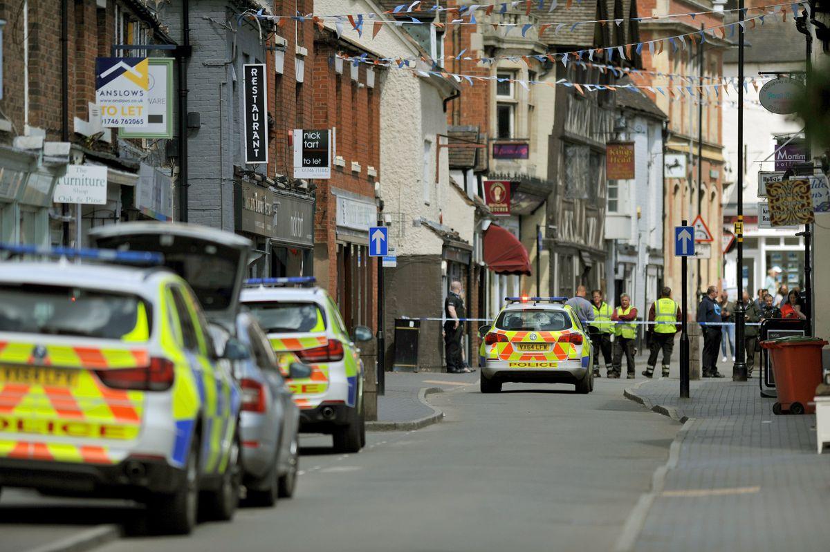 Armed police incident in Whitburn Street, Bridgnorth