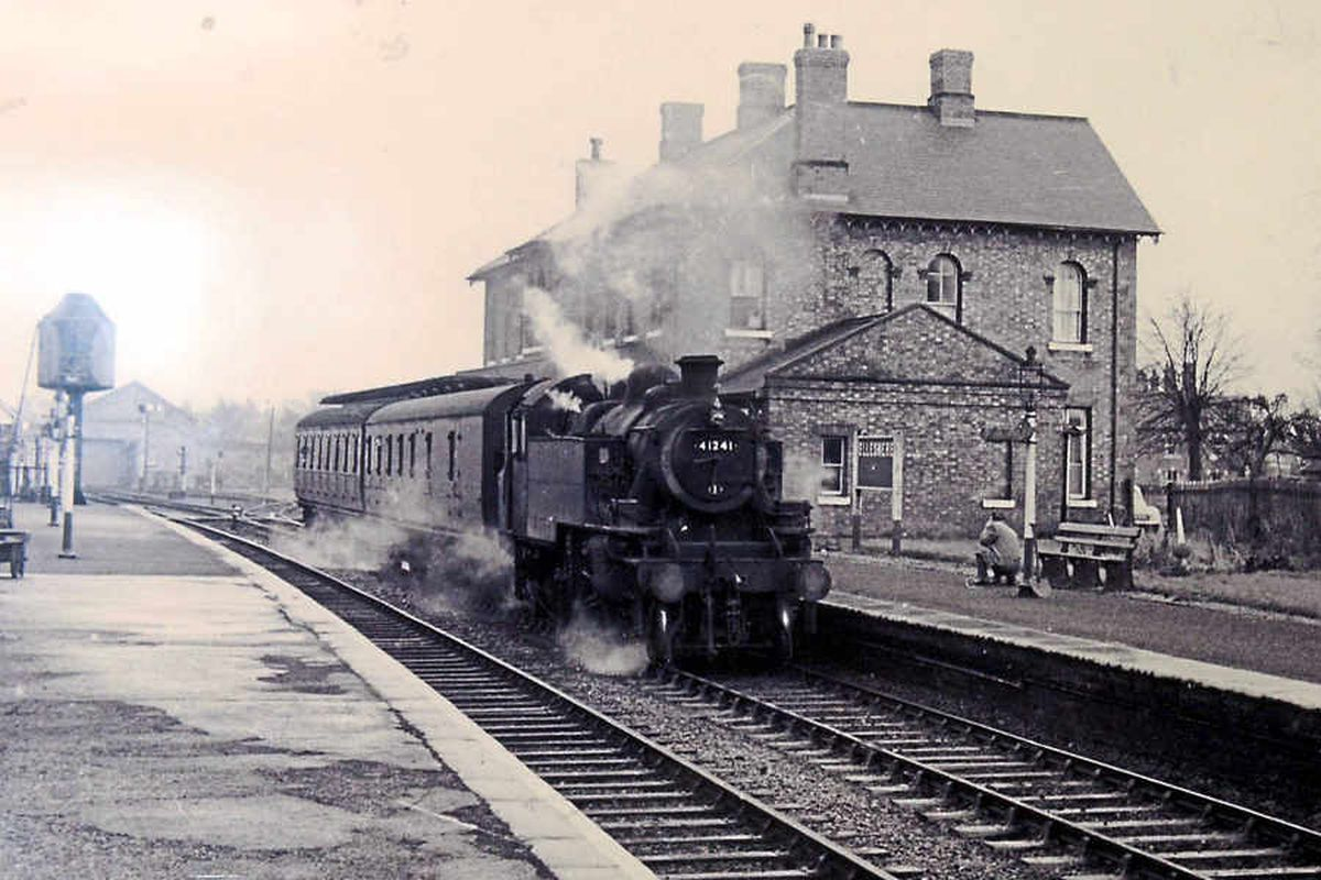 Ellesmere railway station before it closed