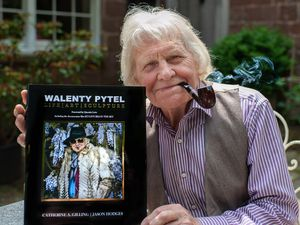 Walenty Pytel, sculptor, with his biography called Life/Art/Sculpture.