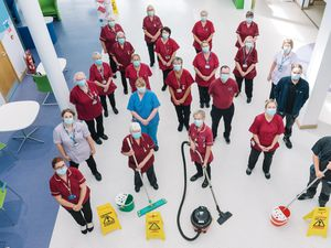 The housekeeping team at The Robert Jones and Agnes Hunt Orthopaedic Hospital