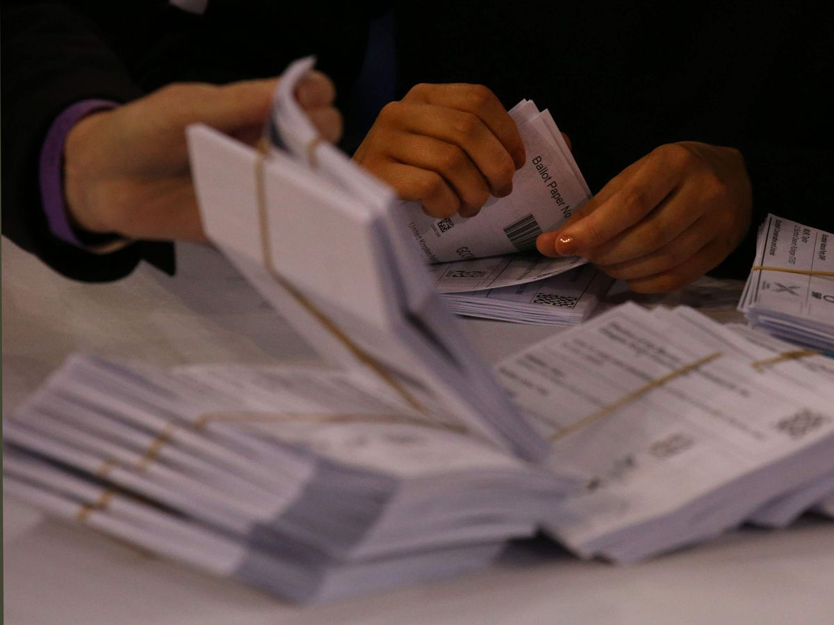 Ballot papers (Andrew Milligan/PA)