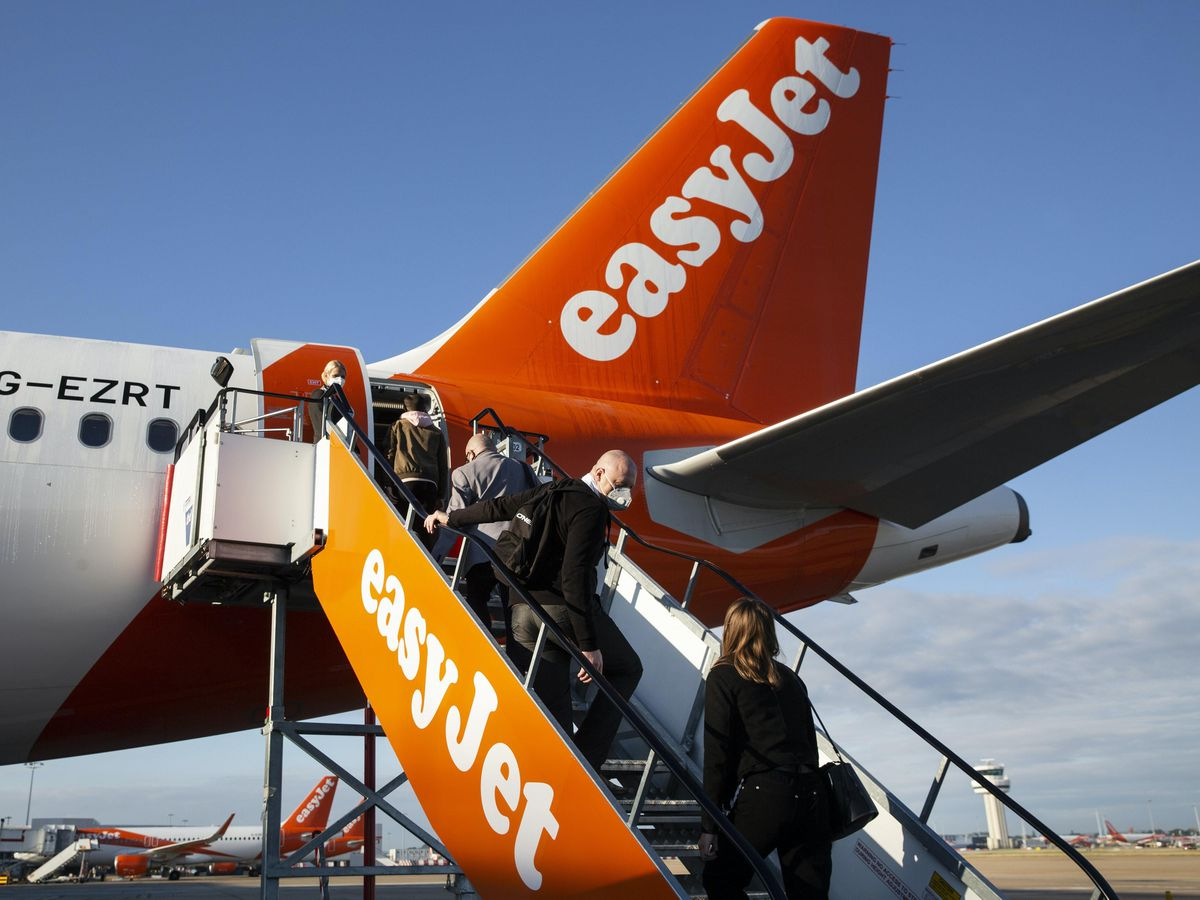 An easyJet flight